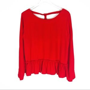 Cloth & Stone | red low back top size small